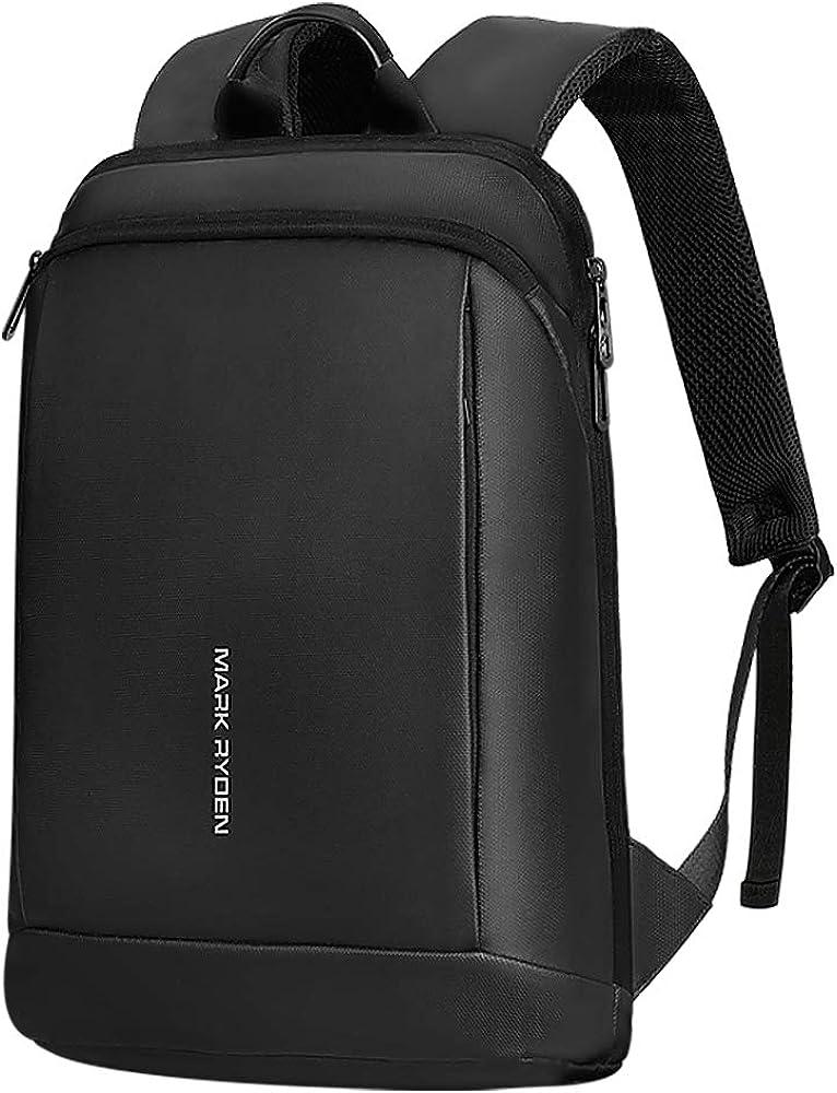 Mark Ryden 15.6 Inch Super Slim Business Laptop Backpack for Men Anti Theft Backpack Waterproof College Backpack (black)