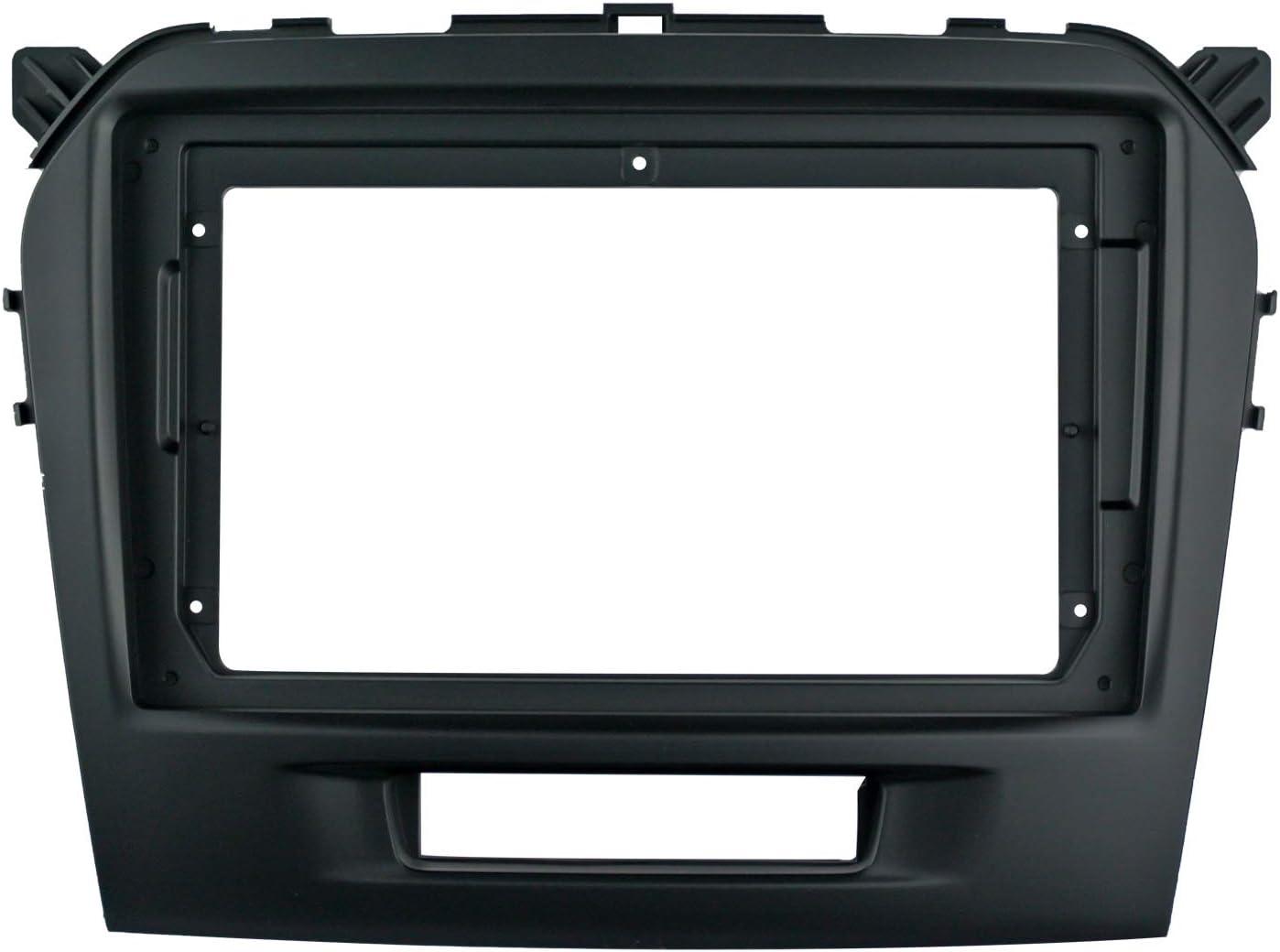 Frame Kits Double din 9inch car Stereo Dashboard Installation Kits Mounting Kits Aftermarket Kits for Suzuki Vitara 2015-2019 10-162
