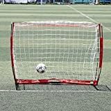 6 x 4ft Soccer Football Goal Post Net with Bow Frame for Indoor/ Outdoor Backyard Training Practice