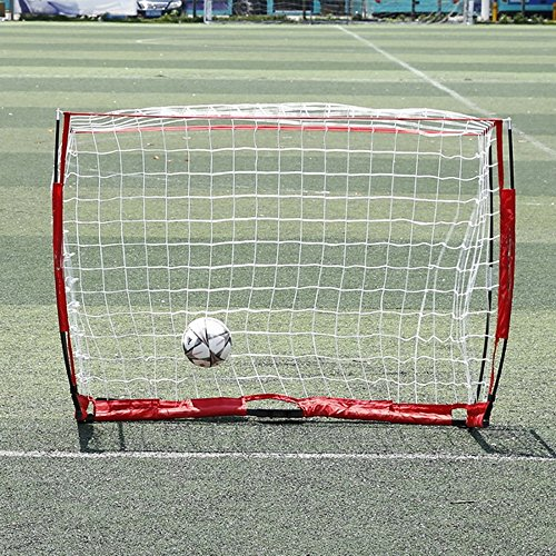 6 x 4ft Soccer Football Goal Post Net with Bow Frame for Indoor/ Outdoor Backyard Training Practice by Cheesea