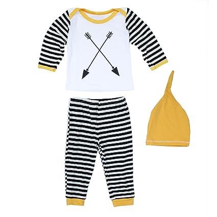 domybest bebé recién nacido Niñas Niños, Polar), Pelele de Top + pantalones sombrero