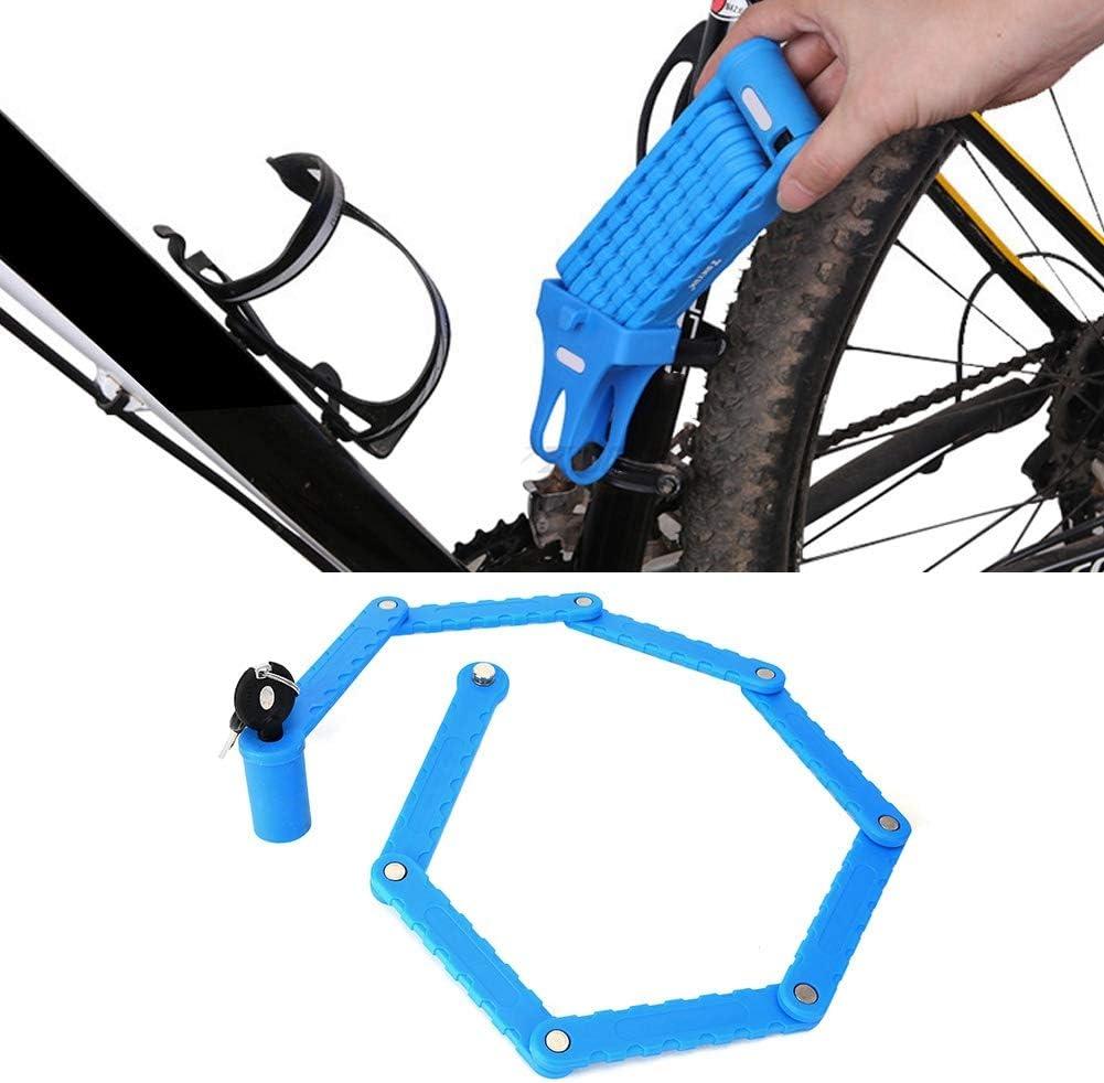 Nannday Cerradura Plegable para Motocicleta, antirrobo Azul ...