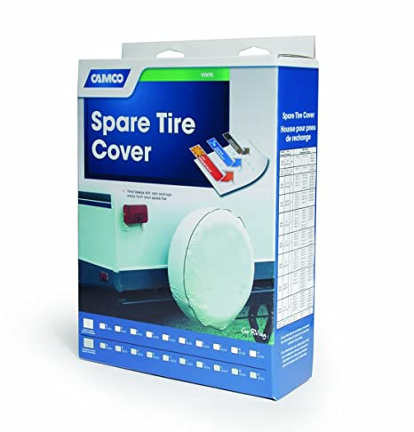 Beige Camco 45357 RV Vinyl Spare Tire Cover 25-1//2-Inch Diameter