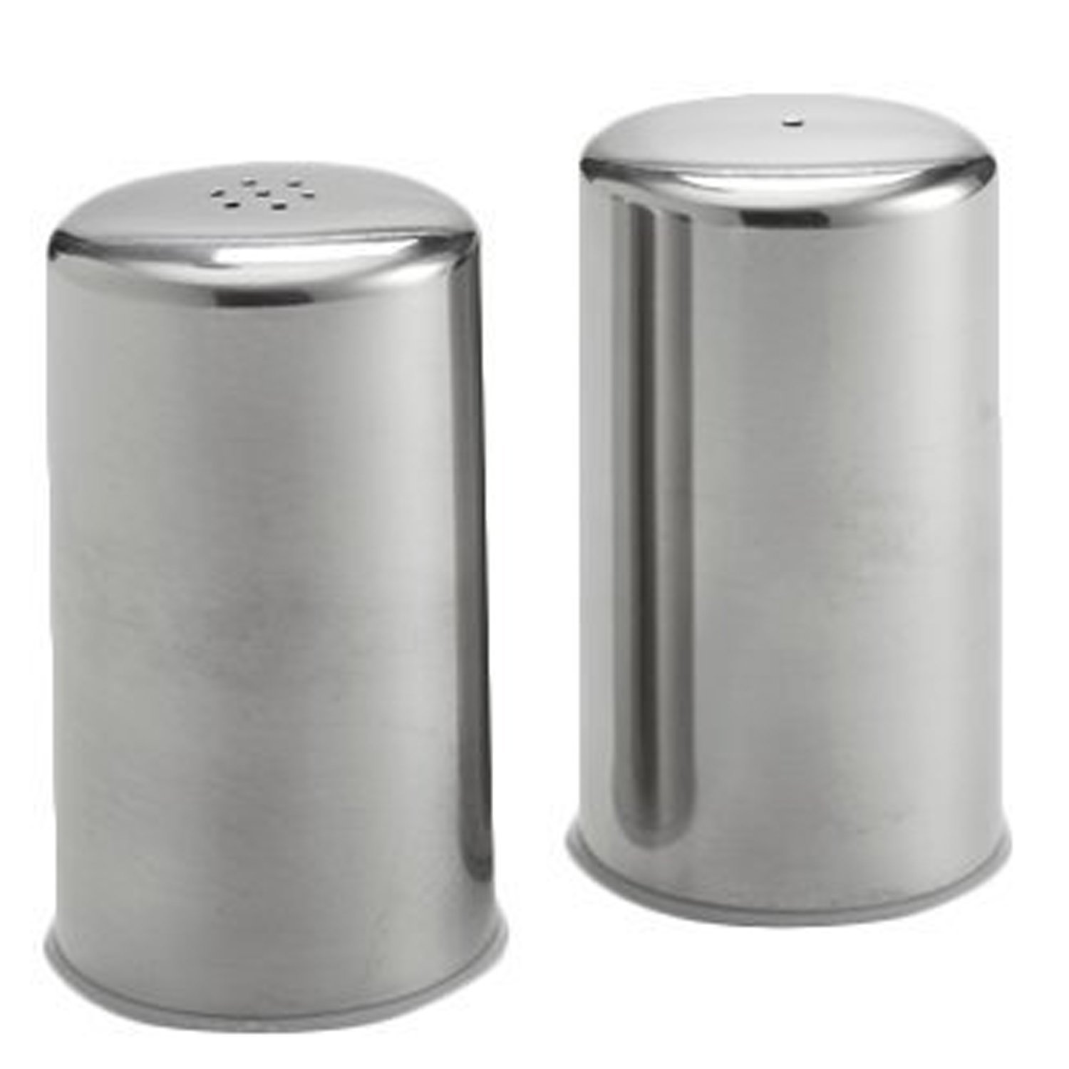 Modern Salt and Pepper Shakers Stainless Steel 2.oz (Set of 2)
