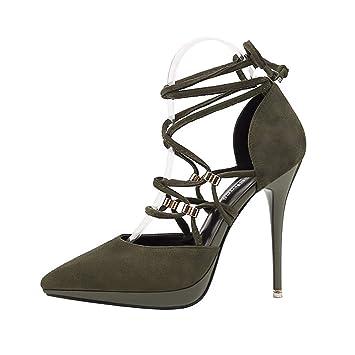 a3aea8bac60c1 Amazon.com: GTVERNH Women's shoes/fashion/Pointed 12Cm High Heel ...