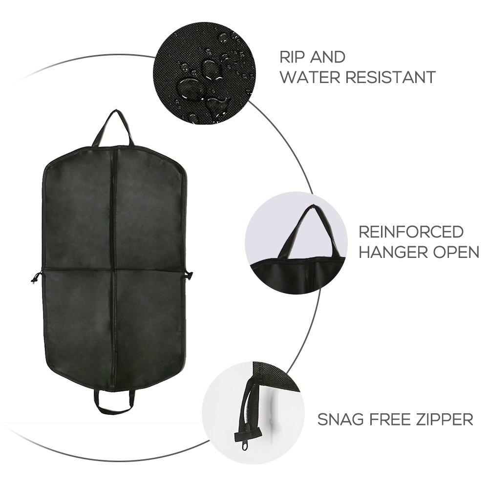 Breathable Lightweight Nylon Foldable Carrier Garment Bag 40 Inch Merssyria Suit Travel Garment Bag