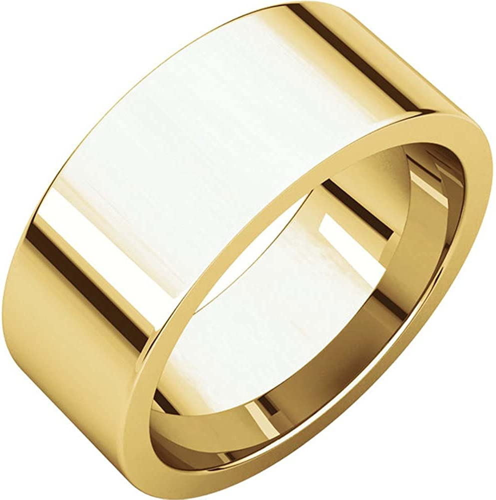 04.00 mm Flat Wedding Band Ring in 14k White Gold Size 6