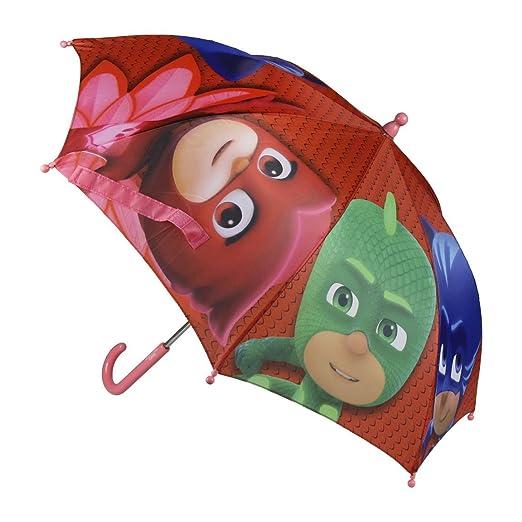 PJ Masks Héroes en pijamas 2400-365 Paraguas Burbuja, Manual, Diámetro 70 Centímetros, Poliéster, Multicolor, Gatuno, Buhíta, Gecko (Azul): Amazon.es: ...