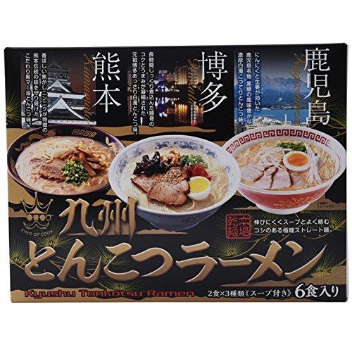 《니시모토》식품 큐슈 날아 요령 라면 세트 6 식들어감 면(75g×6)스프(37g×4,40g×2)