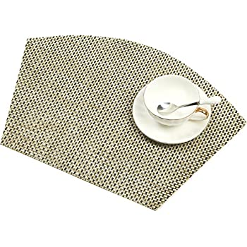 SHACOS Round Table Placemats 70% PVC 30%Polyester Heat Resistant Table Mats  Washable (