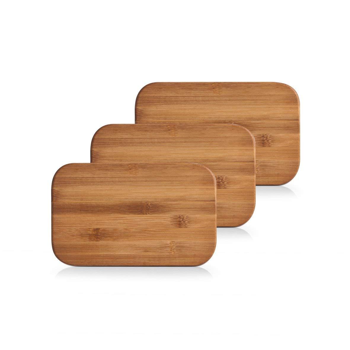 Zeller Cutting Board Set, Bamboo, Brown, 22 x 14 x 2.4 cm