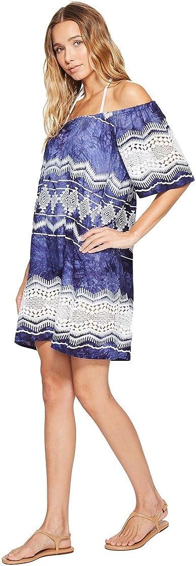 La Blanca Womens Off Shoulder Lace Short Cover Up Dress