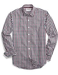 Men's Standard-Fit Long-Sleeve Checked Shirt