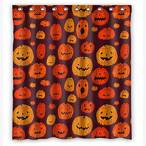 KXMDXA Halloween Pumpkin Jack O Lantern Waterproof Polyester Fabric Shower Curtain 60X72 -