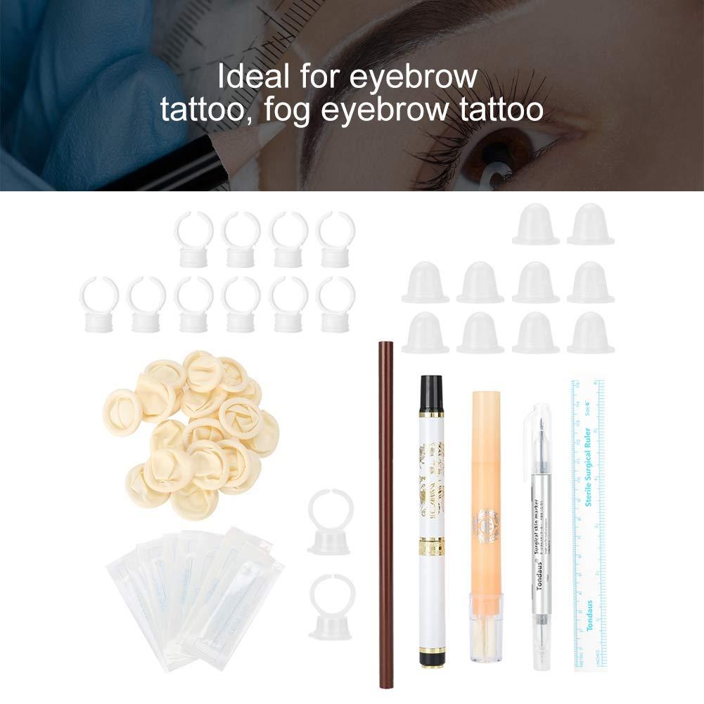 Kit de tatuaje Microblading, suministros de tatuaje con anillo de ...