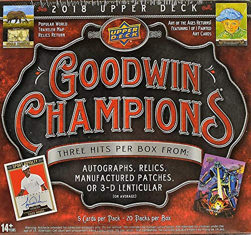 2018 Upper Deck Goodwin Champions HOBBY box (20 pk)