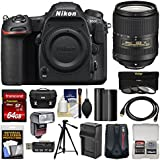 Nikon D500 Wi-Fi 4K Digital SLR Camera Body 18-300mm VR Lens + 64GB Card + Case + Flash + Battery & Charger + Tripod + Kit