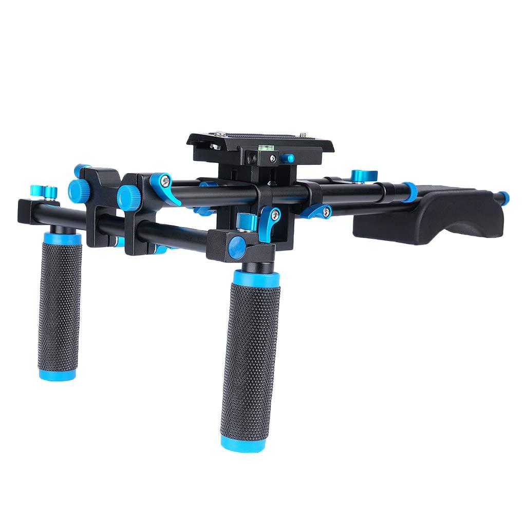 B Blesiya デジタル一眼レフカメラ ショルダーマウント スライダー ハンドグリップ Z型ブラケット アルミ合金   B011NP3UZM