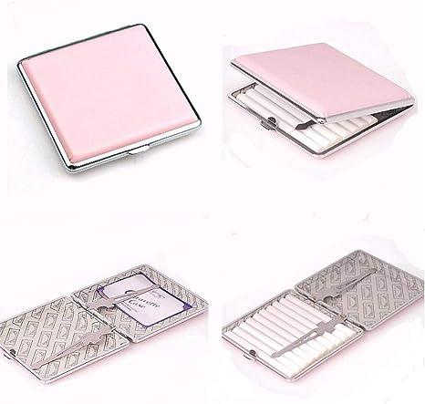 PiniceCore Metall Aluminium Zigarettenetui Cigar Box Leichte Zigaretten-etui Aus Aluminium Zigarettenschachtel Halter Rose Red