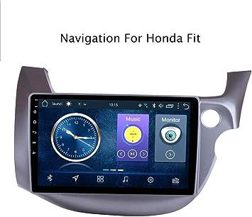 Lour Radio de Coche estéreo de 10,1 Pulgadas Android 8.1 Navegador GPS para Honda Fit 2008-2013 MP5 Bluetooth/Wi-Fi/TPMS/Dab/Dab/AUX/USB/Espejo de conexión,model2,4G + WiFi.: Amazon.es: Electrónica