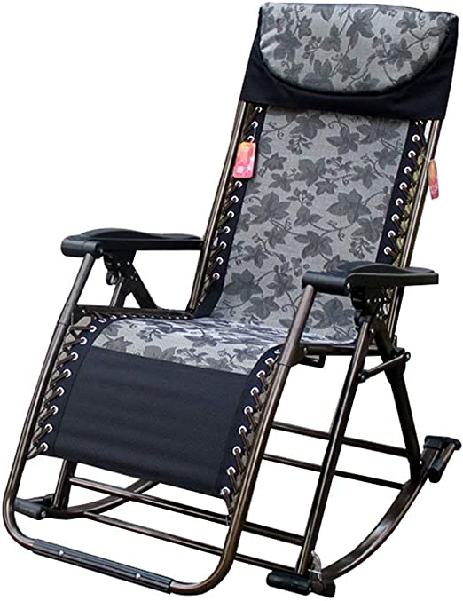 ZAIHW Silla Mecedora Zero Gravity Patio Sillas Jardín Exterior Reclinado Plegable Tumbonas portátiles Oficina Playa Home Lounge Chair (Color : B): Amazon.es: Hogar