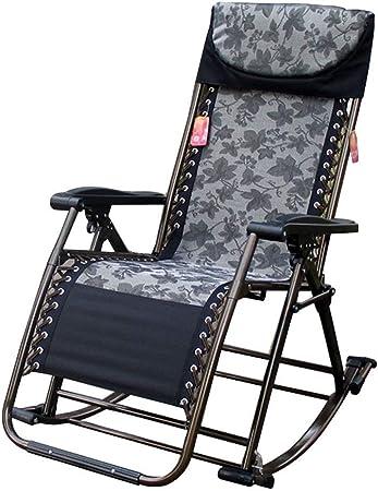 ZAIHW Silla Mecedora Zero Gravity Patio Sillas Jardín Exterior Reclinado Plegable Tumbonas portátiles Oficina Playa Home Lounge Chair (Color : B): Amazon.es: Hogar