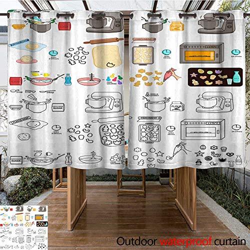 Patio Waterproof Recipe Easter Cookies DIY Instruction Vector DIY Instruction Manual Including Sketch W96 x L72 ()