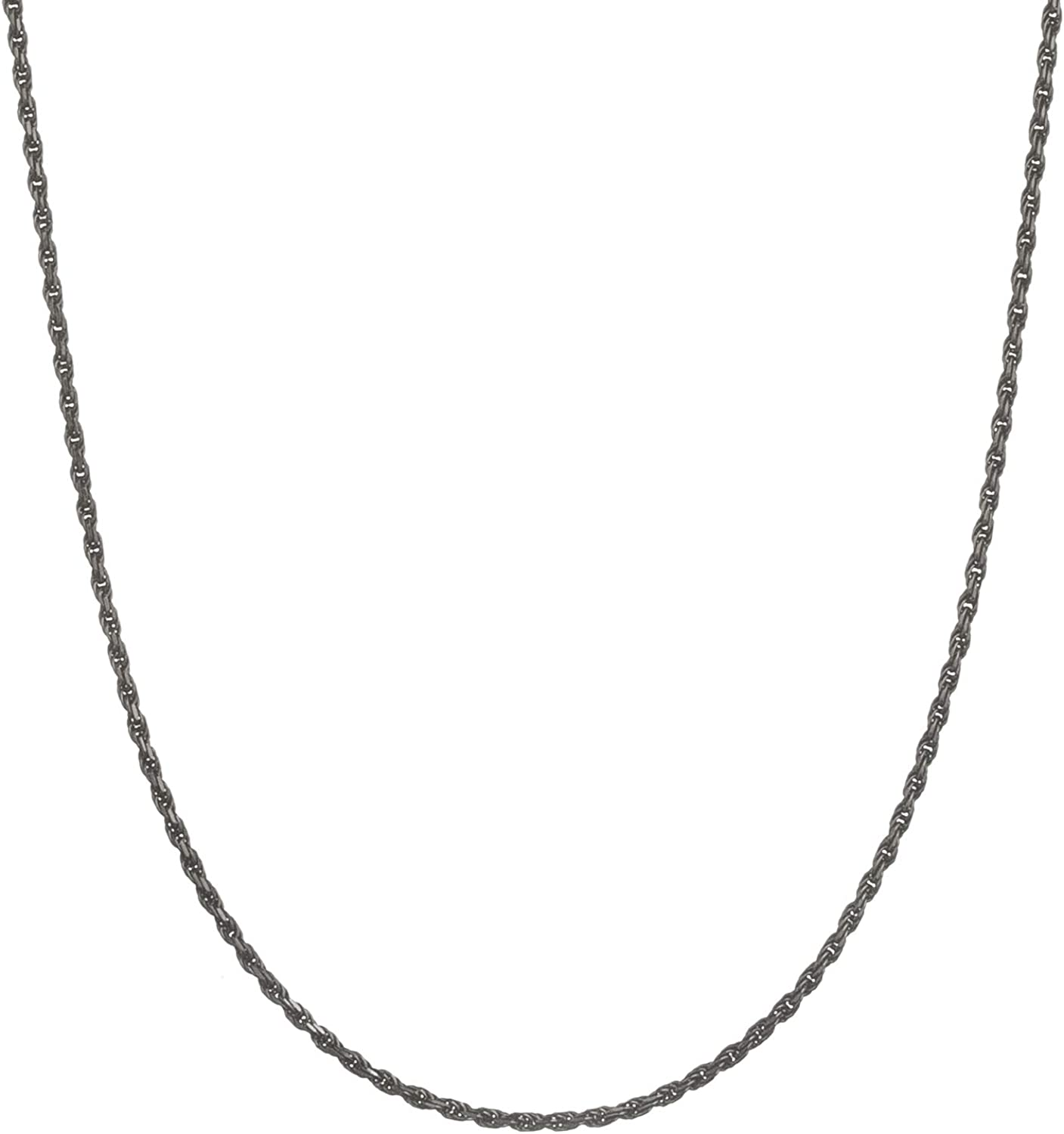 925 Sterling Silver Trace Cable 1.5mm Diamond Cut Chain Necklace 14 16 18 20 22 24 26 28 30 inches