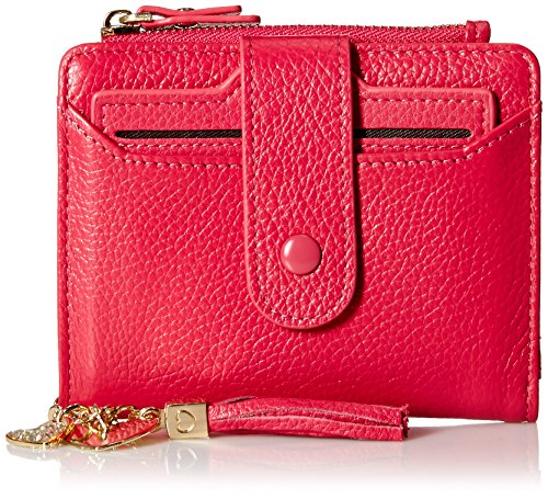 Womens RFID Mini Soft Leather Bifold Wallet With ID Window Card Sleeve Coin Purse