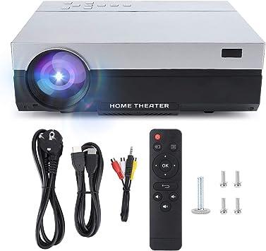 Opinión sobre Proyector 1080P, Proyector portátil de Cine en casa con imágenes de reflexión difusa LED LCD de Alta resolución 4K con Altavoz Dual(Blanco)