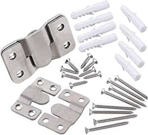 Millie 2 Sets Flush Mount Bracket- Furniture Flush Moun Bracket.Stainless Steel Interlocking Furniture Connector,Heavy Duty Photo Frame Hook Picture Hanger for Large Picture Display Art Gallery Wall