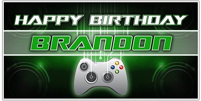 Amazon Com Video Gamer Birthday Banner Personalized Party