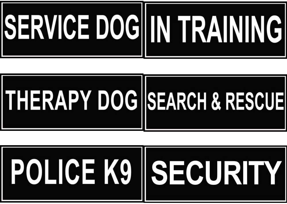FidgetGear Extra Patch Reflective Label Tag for Dog Harness Service Therapy Training Search/&Rescue