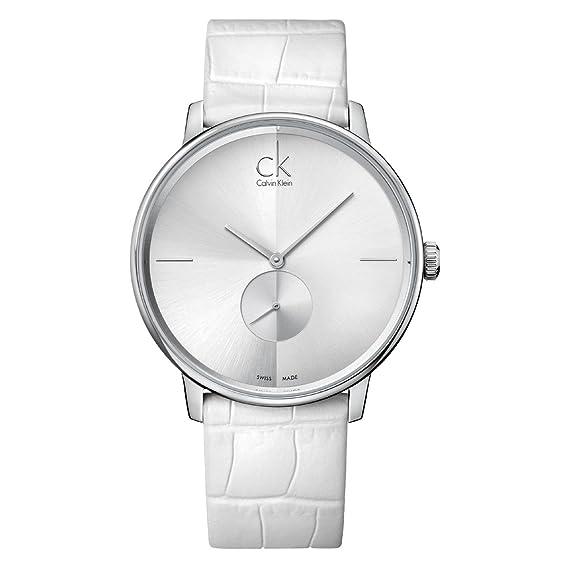 Calvin Klein ck accent K2Y211K6 - Reloj analógico de cuarzo para hombre, correa de cuero