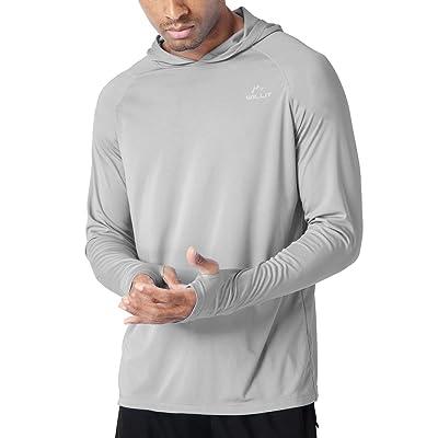 Willit Men's UPF 50+ Sun Protection Hoodie T-Shirt Long Sleeve SPF Shirt Runing Hiking Shirt: Clothing