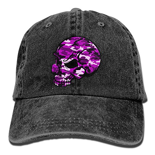 Men And Women Skull Pink Camouflage Vintage Jeans Baseball Cap (Pink Vintage Womens Camo)