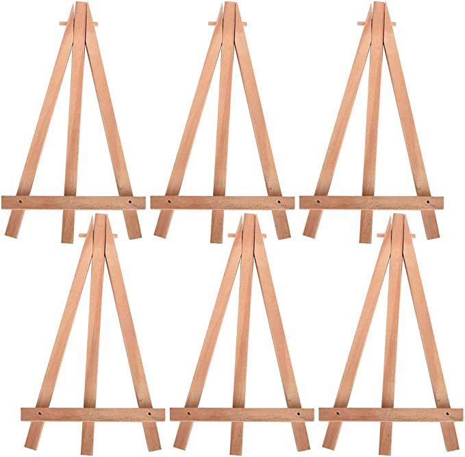 """Tosnail 12/"""" Tall Natural Wood Tripod Easel Photo Painting Display 5 Pack"""