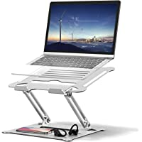 Auledio Laptop Stand, Ergonomic Height Angle Adjustable Portable Laptop Riser,Compatible with MacBook, Air, Pro, Dell…