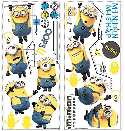 Roommates Rmk2107gc Despicable Me 2 Growth Chart Peel And Stick Wall