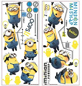 Roommates Rmk2107Gc Despicable Me 2 Growth Chart Peel And Stick Wall Decals
