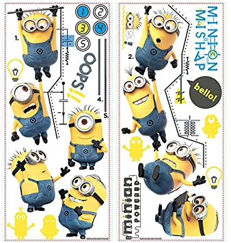 Roommates RmkGc Despicable Me  Growth Chart Peel And Stick - Minion wall decals
