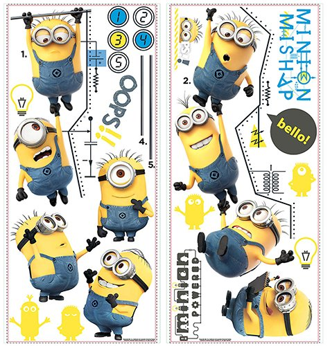 RoomMates RMK2107GC Despicable Me 2 Growth Chart Peel and Stick Wall Decals]()