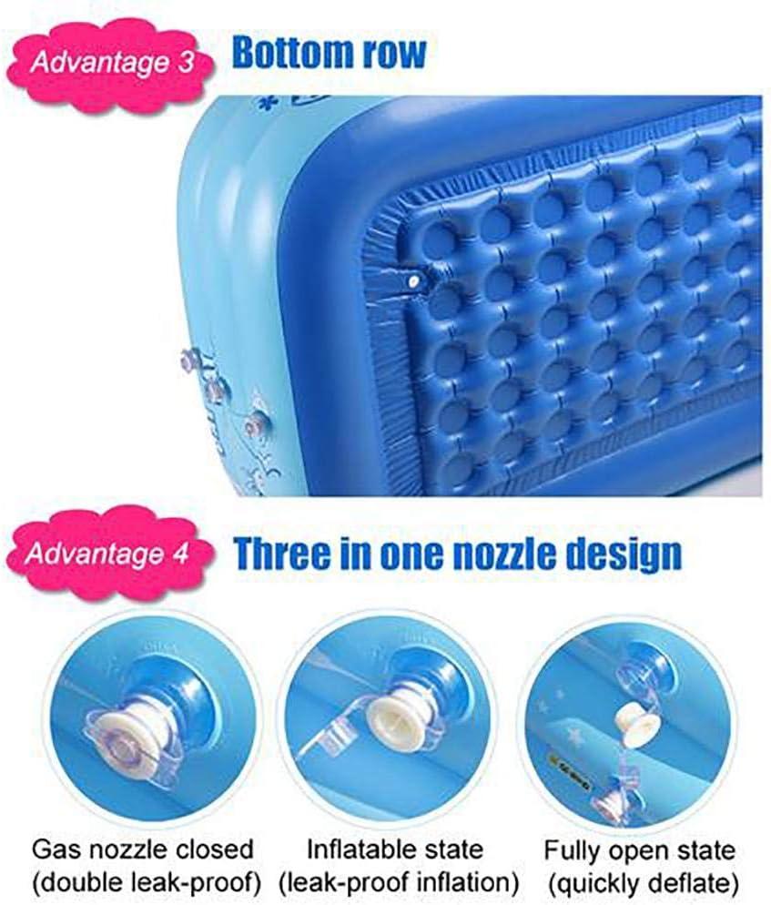Azul Piscina Rectangular para ni/ños 130 x 80 x 40 cm f/ácil de Montar Dough.Q Piscina Hinchable