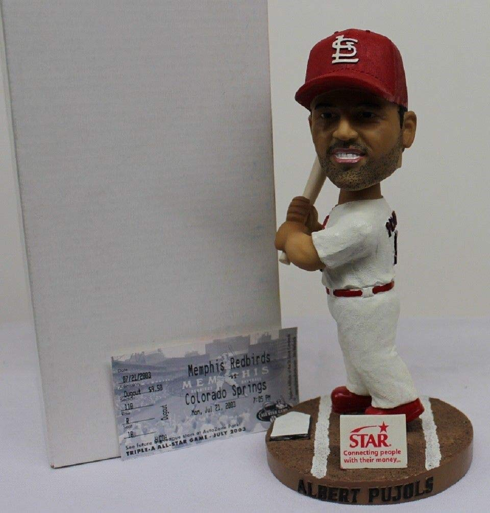 Albert Pujols Bobblehead SGA w/Game Ticket Memphis Redbirds NIB Rare Cardinals