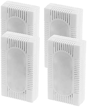 Sichler Haushaltsgeräte Kühlschrank Deo 4er Set 3in1 Kühlschrank
