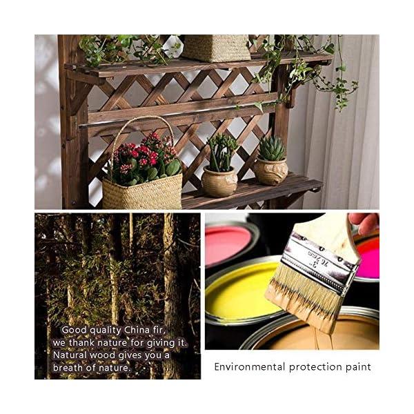 HEMFV Di Legno Solido Planter Box con Trellis Meteo Resistente Outdoor - Raised Elevato Garden Bed Wooden Planter… 5 spesavip