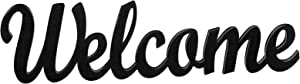 Rustic Wooden Welcome Words Decor Sign Wooden Cutout Word Wall Sign Rustic Wood Welcome Sign Free-Standing Welcome Wall Decoration Sign for Home Living Room Decoration (Welcome Style)