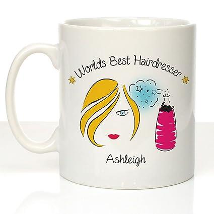 Personalised Worlds Best Hairdresser Mug, Hairdresser birthday gift,  Hairdresser leaving gift, Hair stylist gift, Hair mug, Hair stylist mug