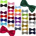 Byeco 36 Colors Pre Tied Mens Adjustable Bow Tie Fancy Plain Tie