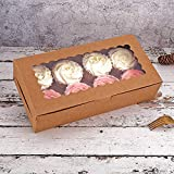Tcoivs 30-Set Cupcake Boxes with Window Hold 8